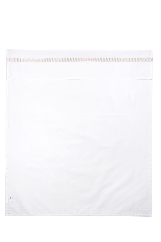 Ledikantlaken Bies Stip - Lichtroze/Wit - 100x150cm
