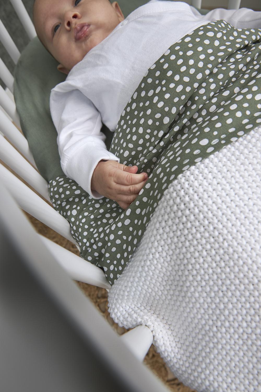 Biologische Babydecke klein Mini Relief - Warm Weiß - 75x100cm