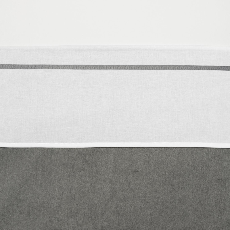 Ledikantlaken Bies - Grijs - 100x150cm