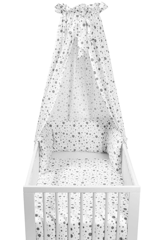 Babyset 4-teilig Kinderbett Dots - Grau - 100x135cm