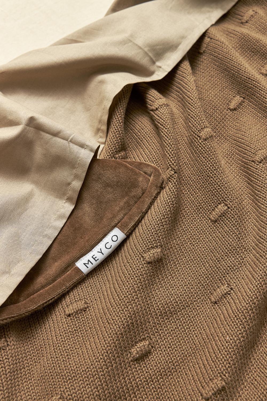 Ledikantdeken Velvet Knots - Chocolate - 100x150cm