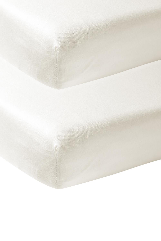 Jersey Spannbettlaken 2-Pack - Offwhite - 60x120cm