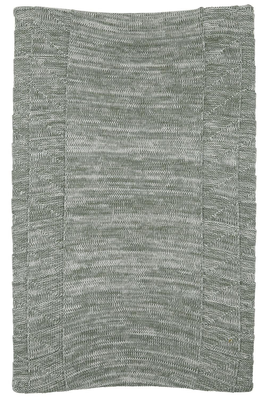 Aankleedkussenhoes Block mixed - Stone/forest green - 50x70cm