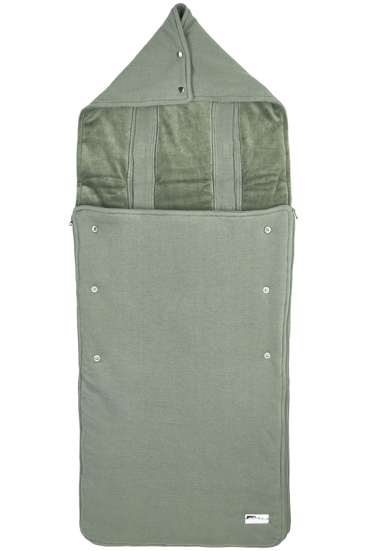 Pushchair Footmuff Knit Basic - Forest Green