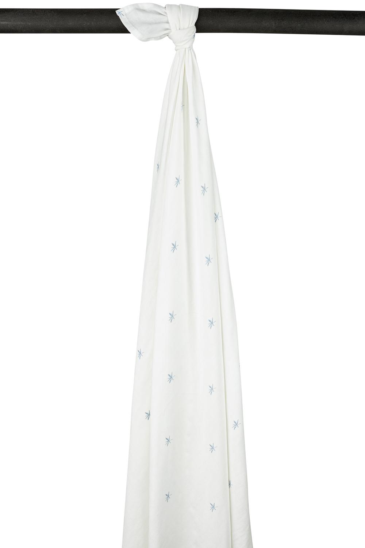 Meyco X Mrs. Keizer Bambus Wickeltuch Ibiza - Denim - 120x120 cm