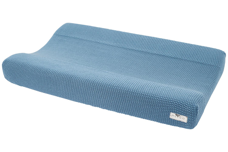 Biologische Aankleedkussenhoes Mini Relief - Denim - 50x70 cm