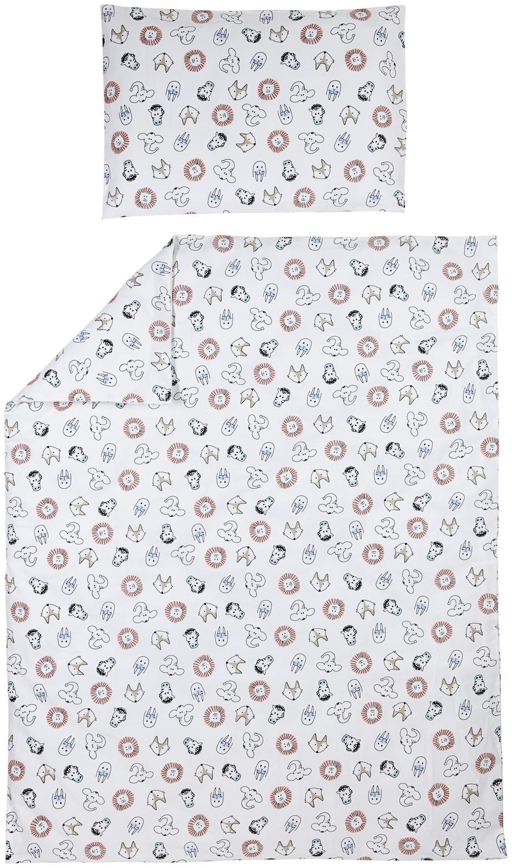 Bettdeckenbezug + Kissenbezug Animal - 100x135cm