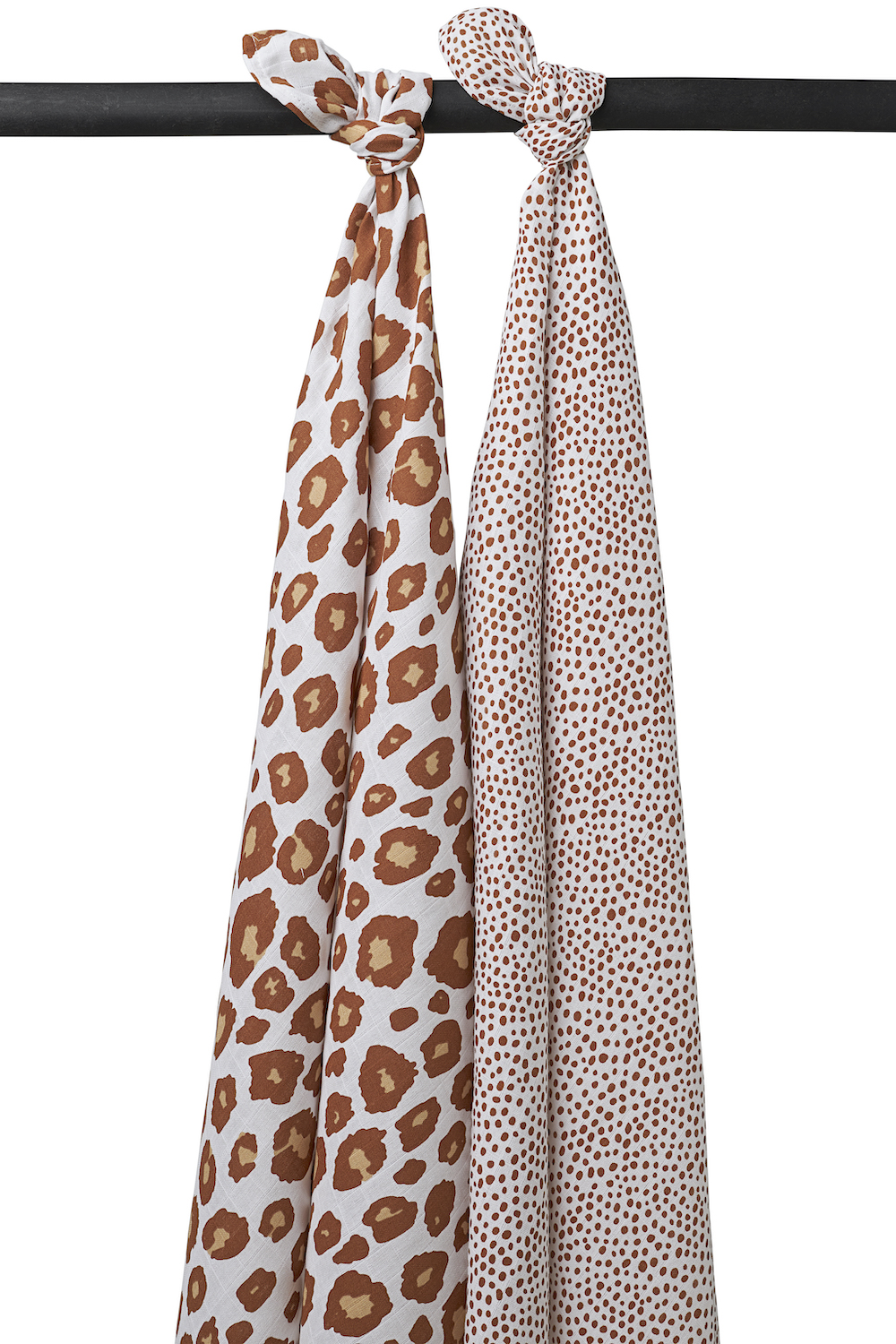 Musseline Swaddles 2-pack Panter/Cheetah - Camel - 120x120 cm