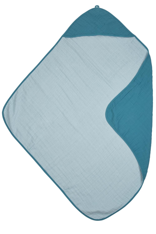 Hydrofiele Badcape - Petrol/Sea Blue - 90x90cm