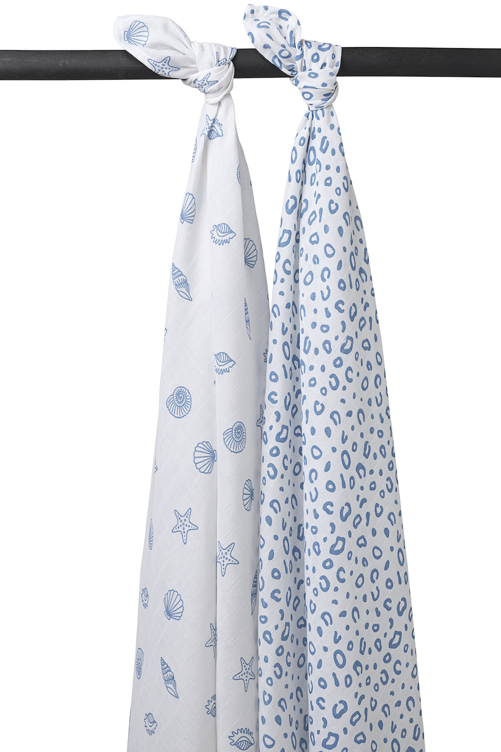 Muslin Swaddles 2-Pack Shells - Denim - 120X120 cm