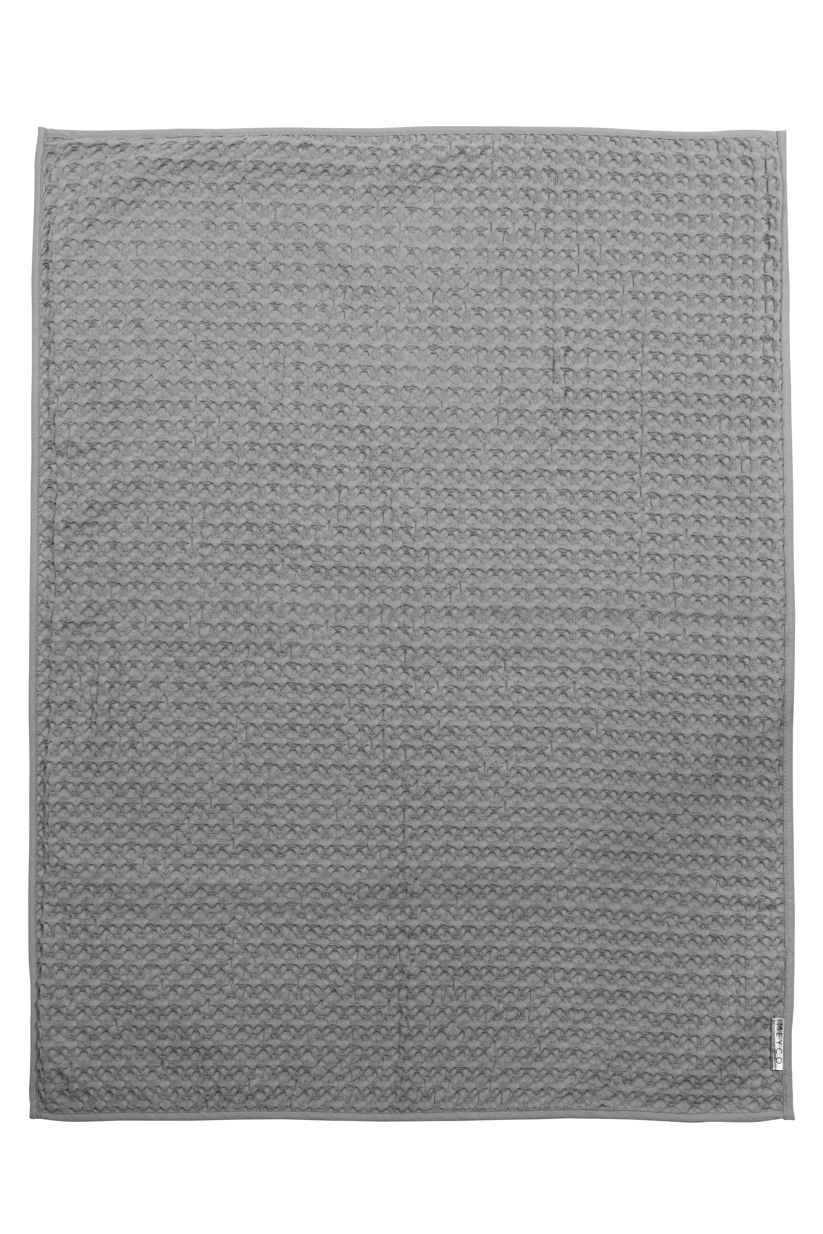 Ledikantdeken Wafel/Flanel Swan - Grijs - 120x150cm
