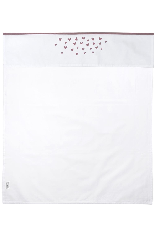 Ledikantlaken Hearts - Lilac - 100x150cm
