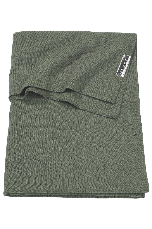 Wiegdeken Knit Basic - Forest Green - 75x100cm