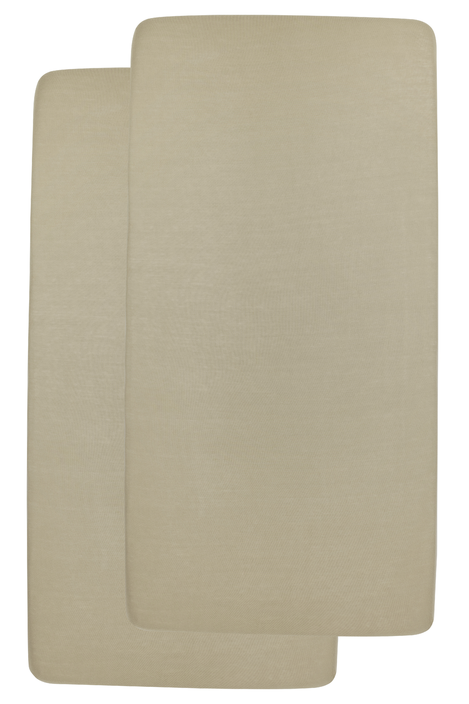 Jersey Hoeslaken Juniorbed 2-pack - Taupe - 70x140/150cm
