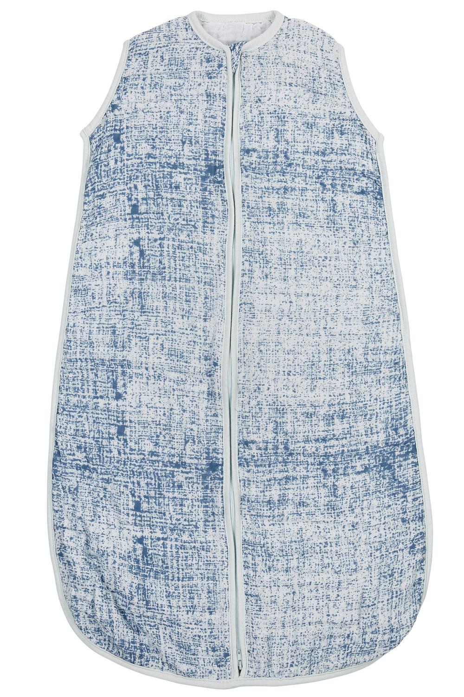 Hydrofiele Slaapzak Fine Lines - Jeans/Lichtblauw - 70cm