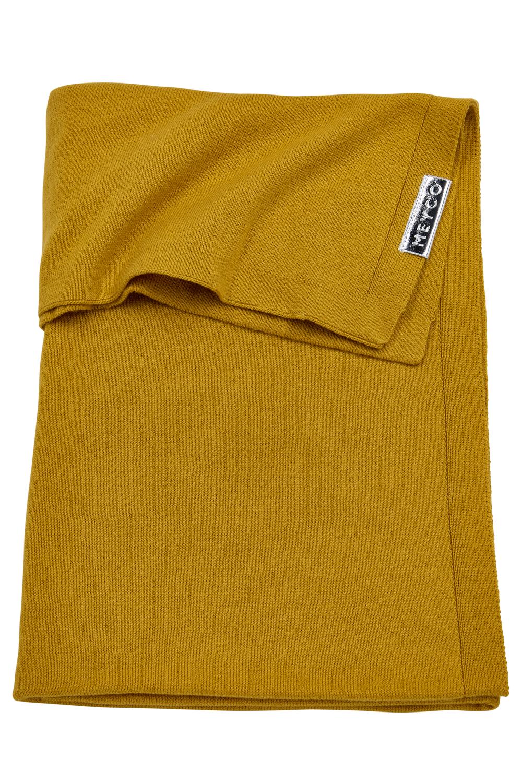 Wiegdeken Knit Basic - Okergeel - 75x100cm