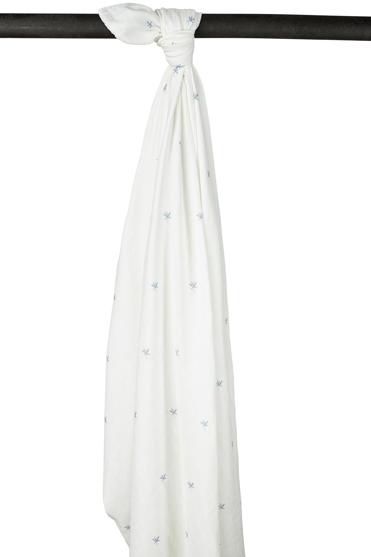 Meyco X Mrs. Keizer Bambus Wickeltuch XL Ibiza - Denim - 140x200 cm