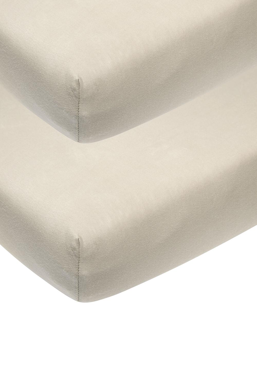Jersey Hoeslaken Wieg 2-pack - Sand - 40x80/90cm