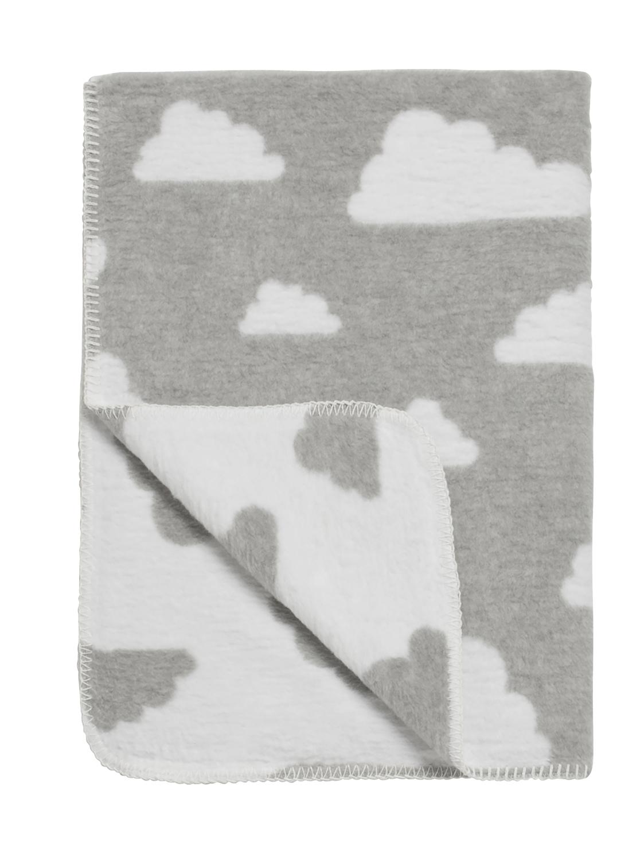 Ledikantdeken Little Clouds - Grijs - 120x150cm