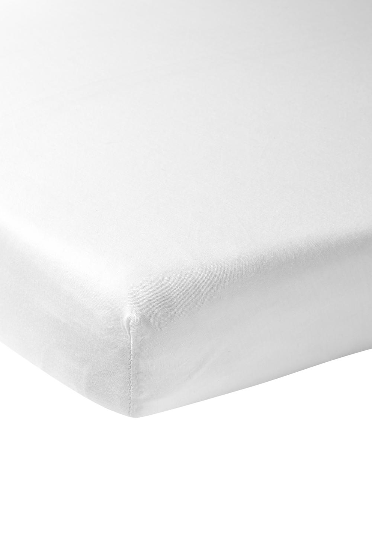 Gewebtes Spannbettlaken 60x120cm - weiß