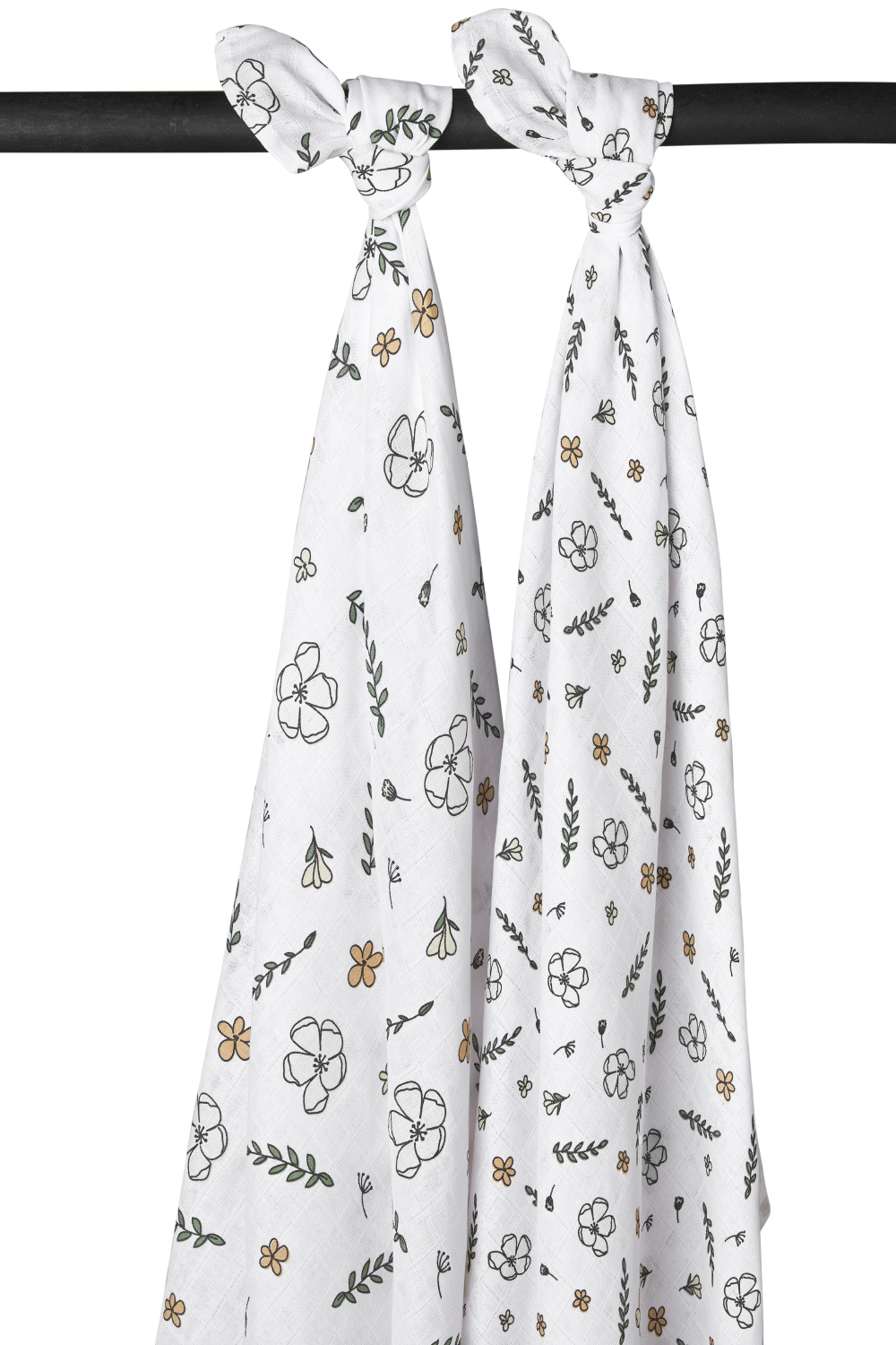 Biologisch Hydrofiele Swaddles 2-Pack Floral - 120x120cm