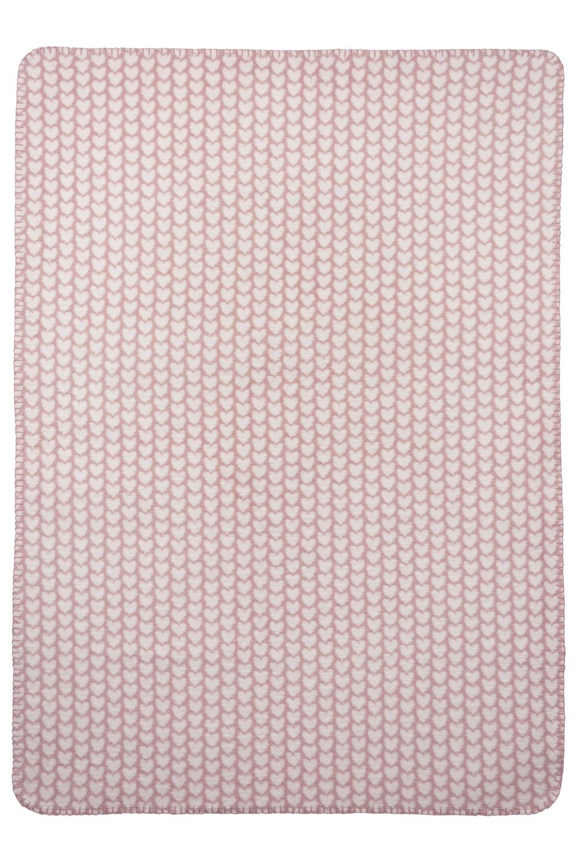 Wiegdeken Knitted Heart - 75x100cm