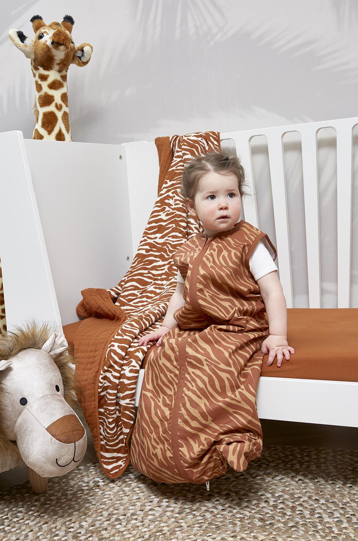 Zomerslaapzak Zebra - Camel - 110cm