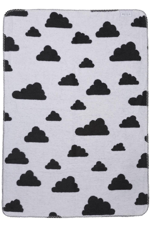 Wiegdeken Little Clouds - Zwart - 75x100cm