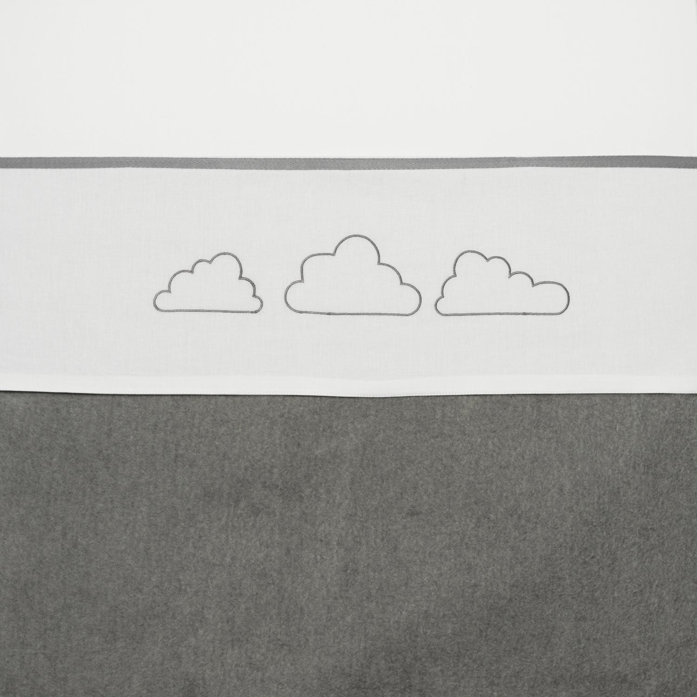 Ledikantlaken Clouds - Grijs - 100x150cm