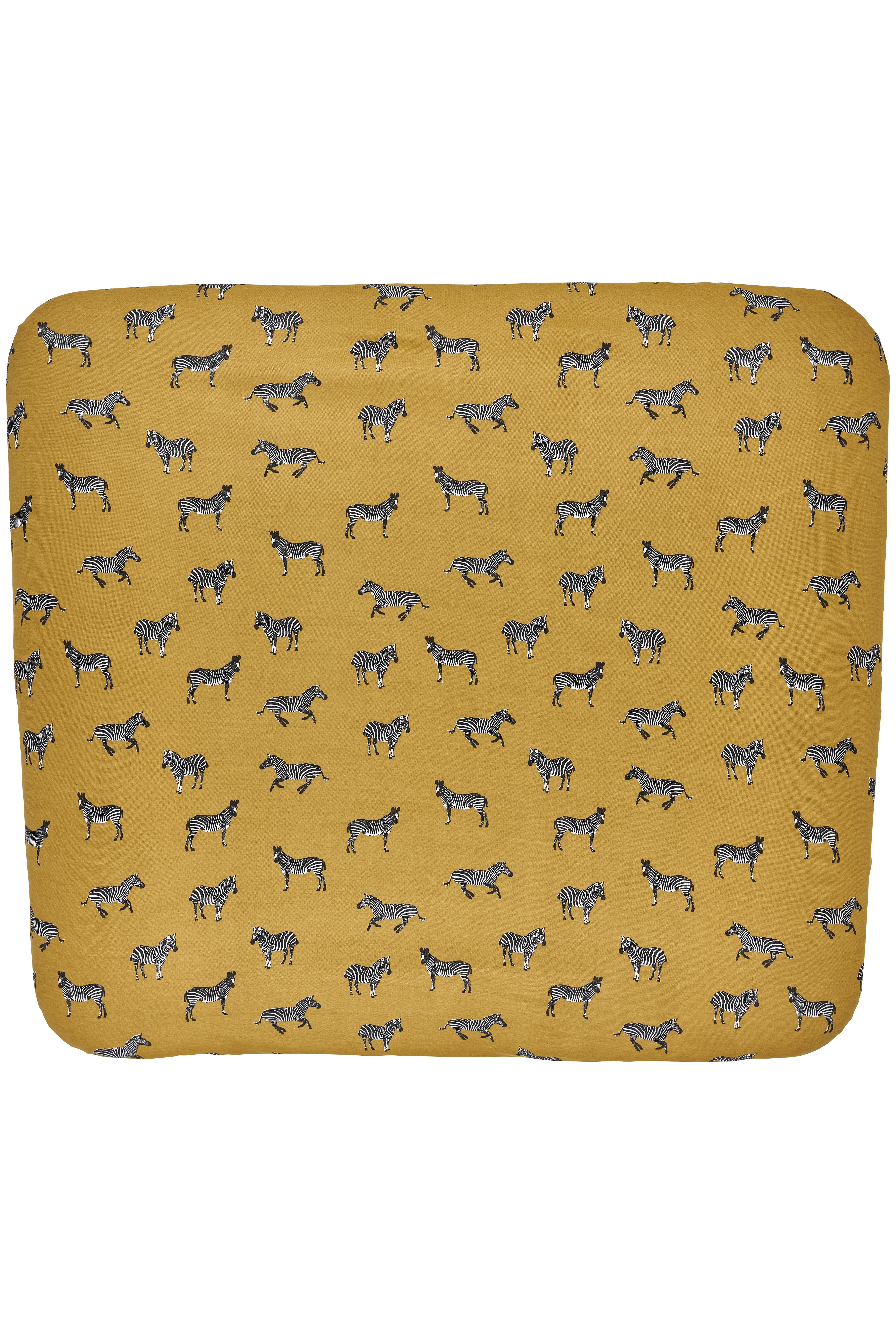 Aankleedkussenhoes 3K Zebra Animal - Honey Gold - 85x75cm