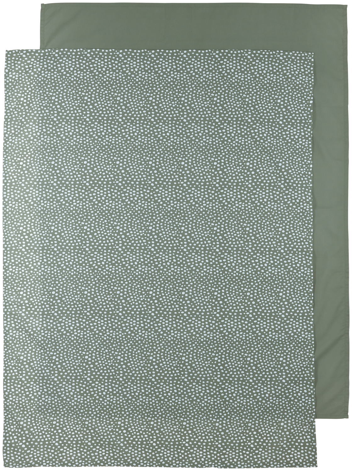Wieglaken 2-Pack Cheetah/Uni - Forest Green - 75x100cm