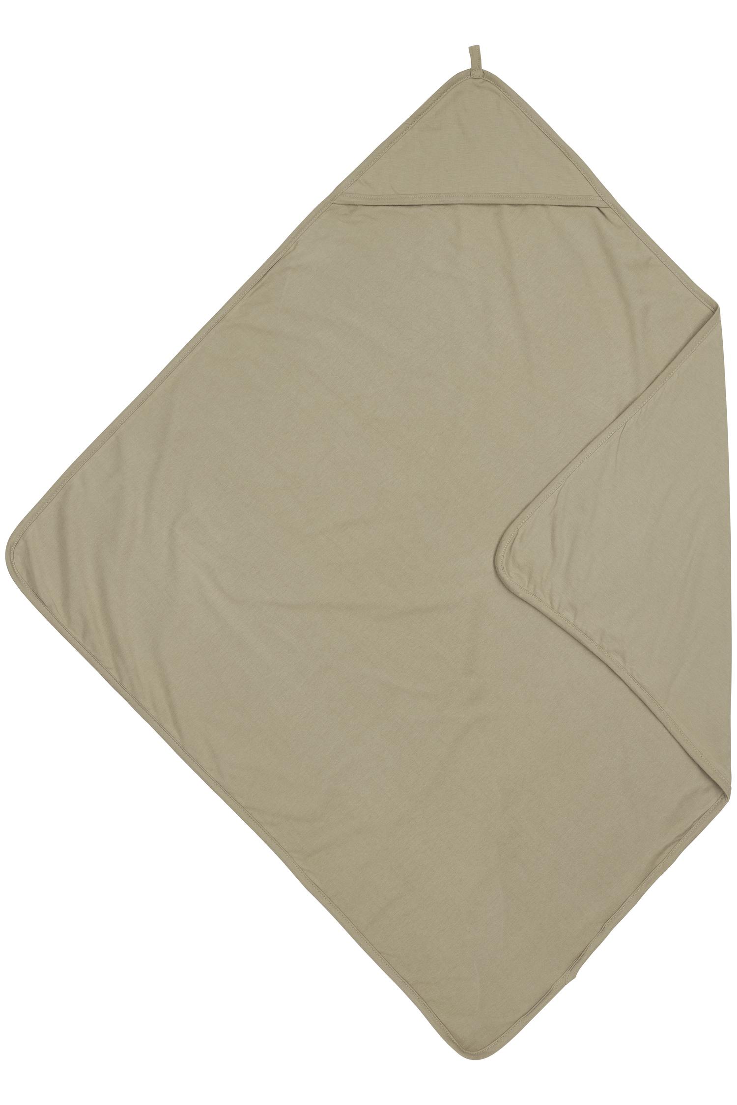 Kapuzentuch Basic Jersey - Taupe - 80x80cm