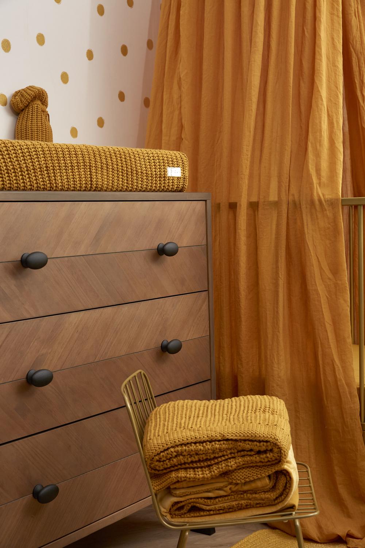 Wiegdeken Knit Basic - Honey Gold - 75x100cm