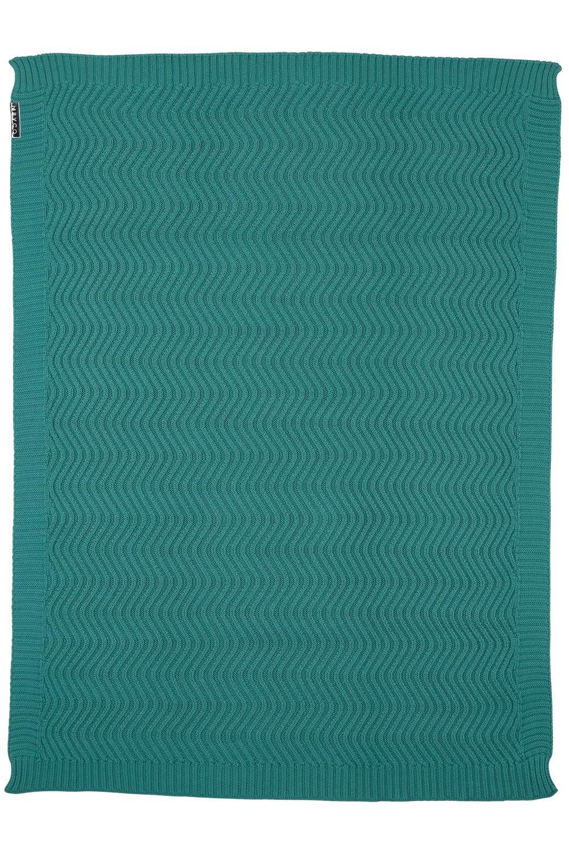Ledikantdeken The Waves - Emerald Green - 100x150cm