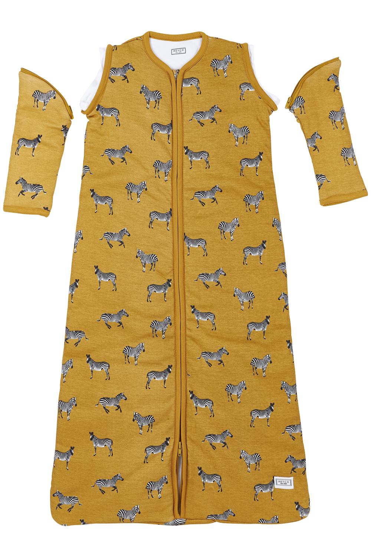 Babyslaapzak Afritsbare Mouw Gevoerd Zebra Animal - Honey Gold - 110cm
