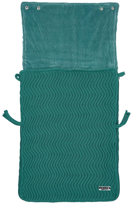 Voetenzak The Waves - Emerald Green - 40x82cm