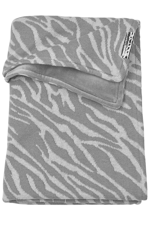 Wiegdeken Velvet Zebra - Grijs - 75x100cm
