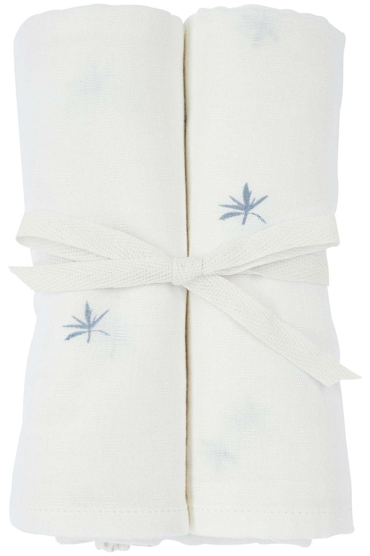 Meyco X Mrs. Keizer 2-pack Bamboe Luiers Ibiza - Denim - 70x70 cm