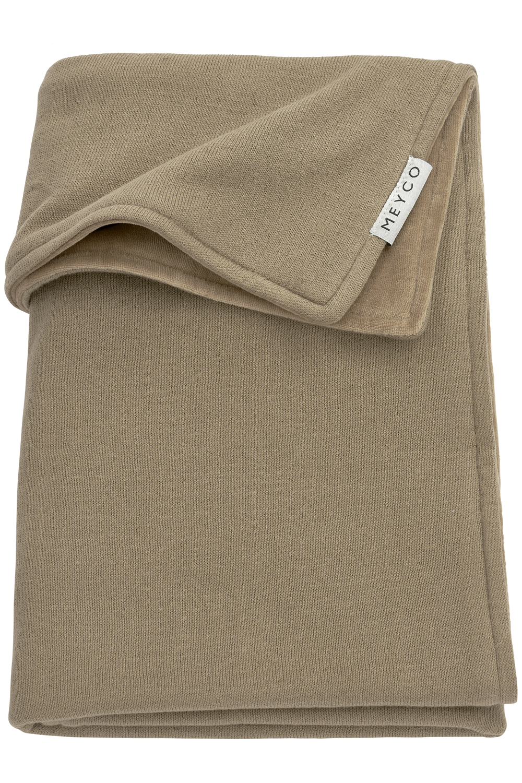 Babydecke klein Velvet Knit Basic - Taupe - 75x100cm