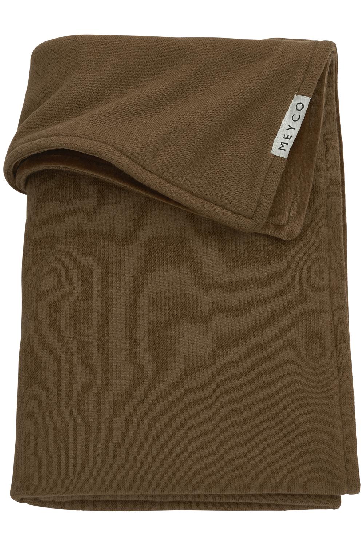 Babydecke klein Velvet Knit Basic - Chocolate - 75x100cm