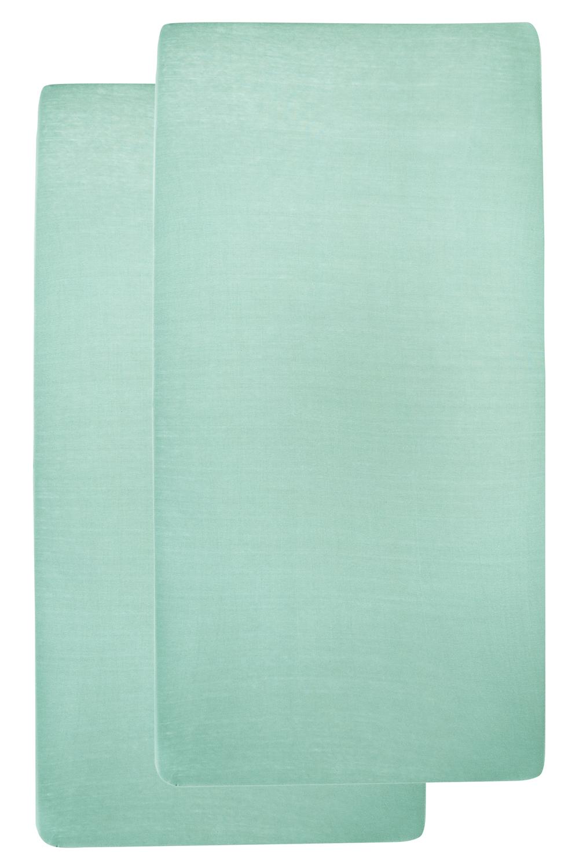 Jersey Hoeslaken 2-Pack - New Mint - 40x80/90cm