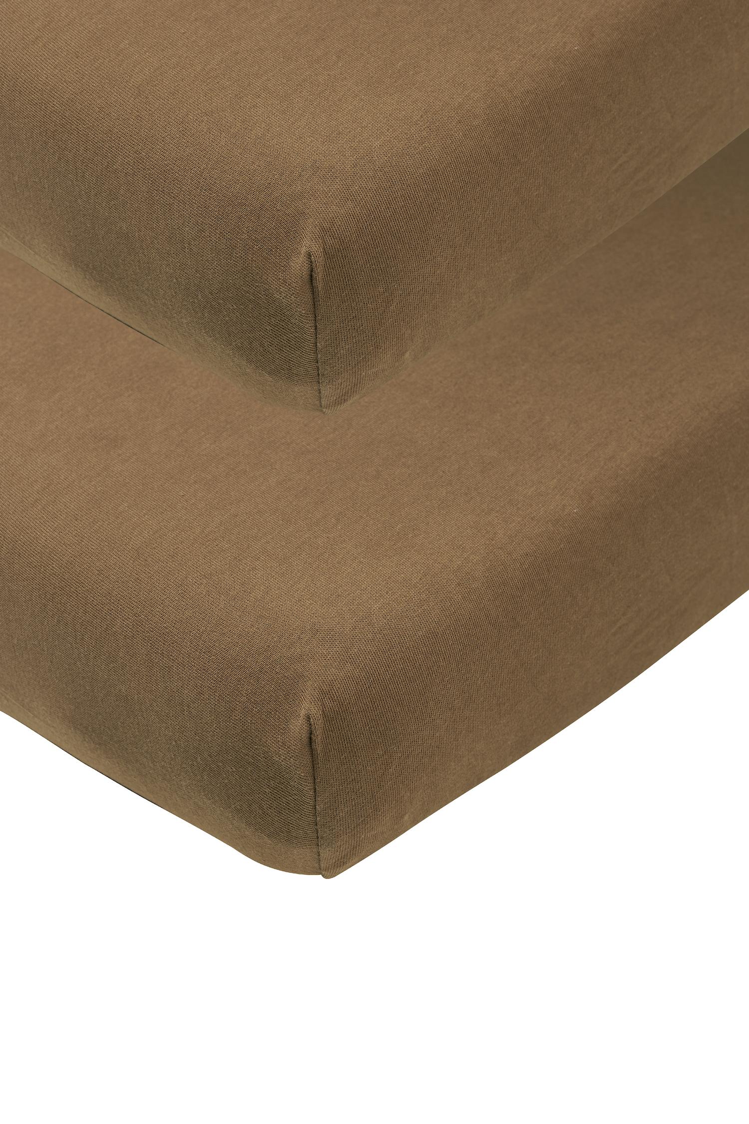 Jersey Hoeslaken Juniorbed 2-Pack - Chocolate - 70x140/150cm