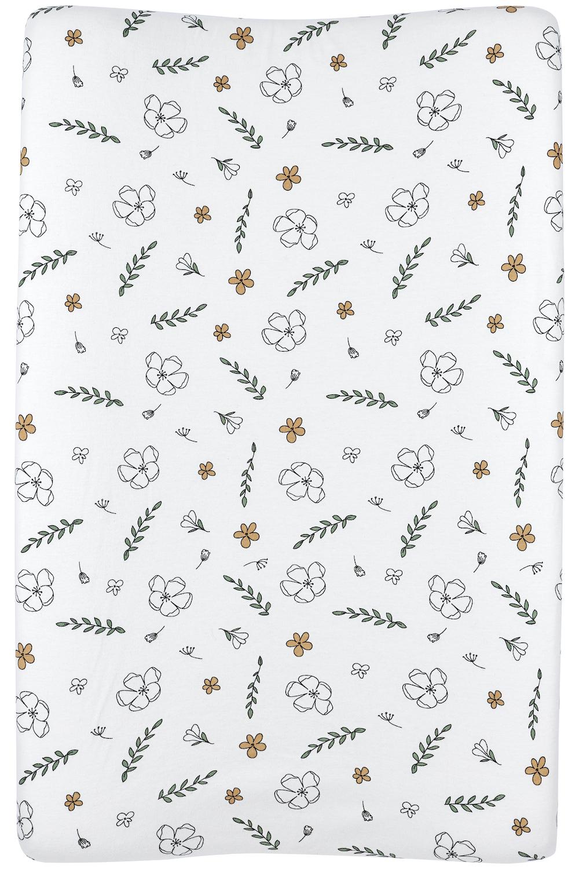 Biologischer Wickelauflagenbezug Floral - 50x70 cm