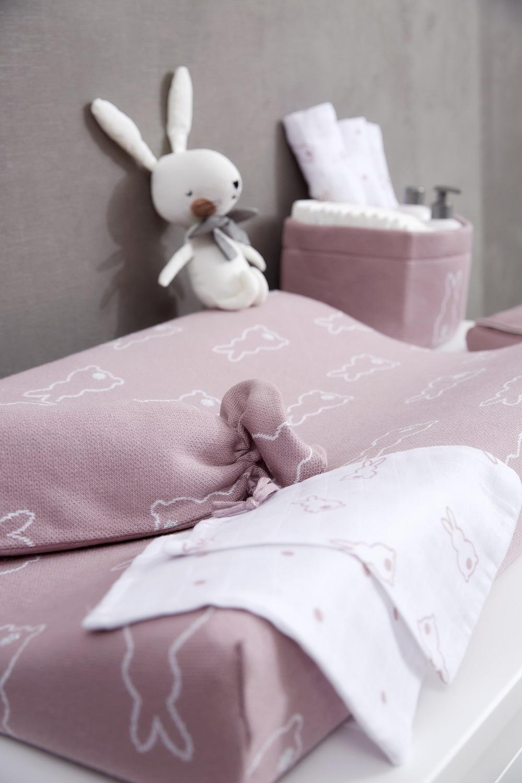 Meyco X Mrs. Keizer Aankleedkussenhoes Rabbit - Lilac