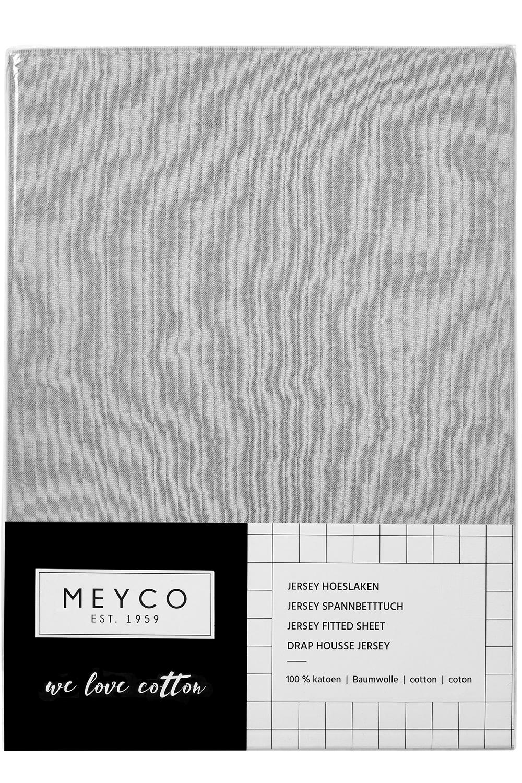 Jersey Hoeslaken - Lichtgrijs - 40x80/90cm