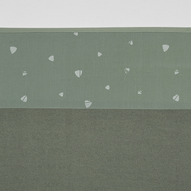 Wieglaken Sweet triangle - Stone Green - 75x100cm