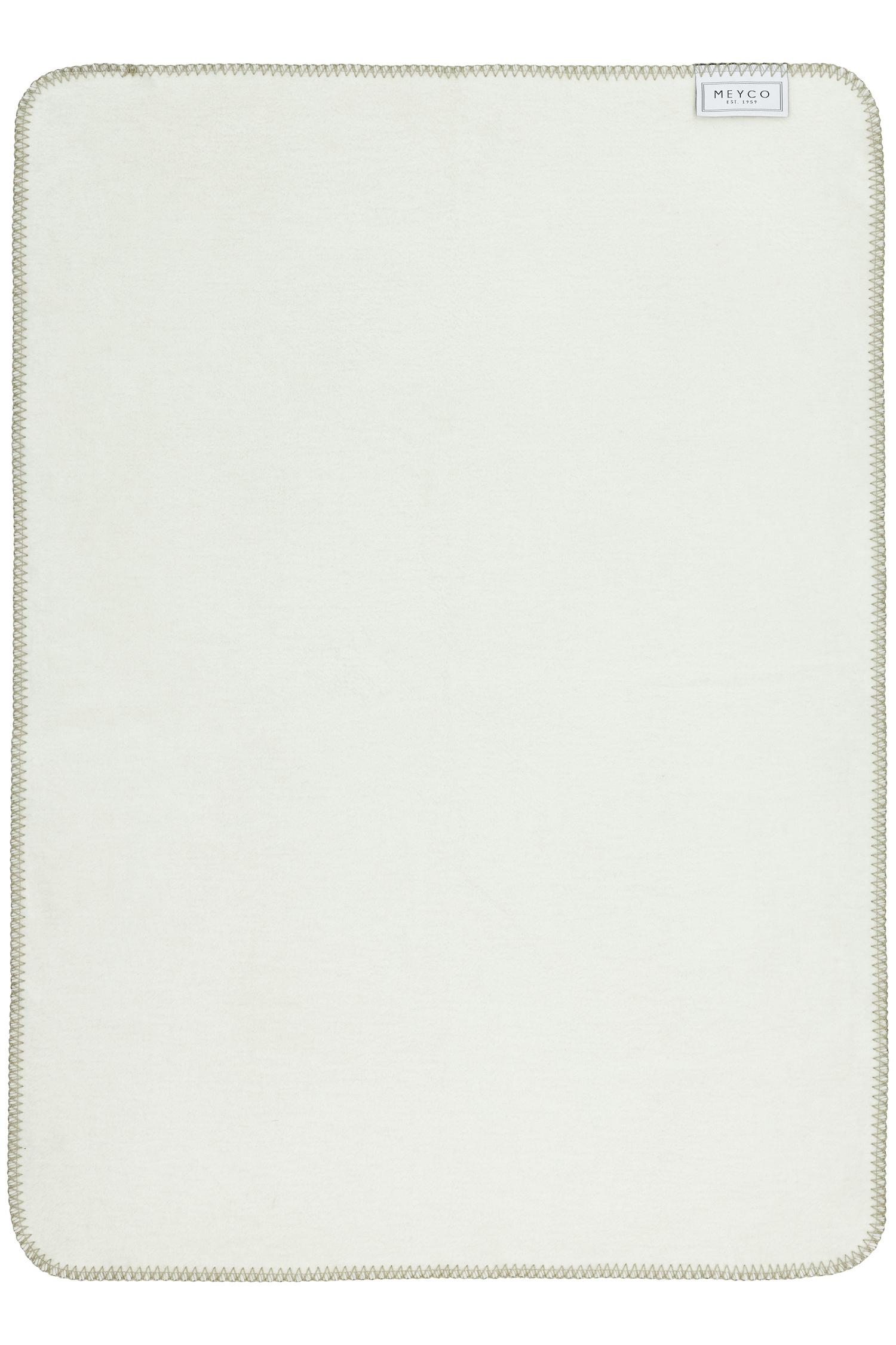 Ledikantdeken Double Face - Taupe/Offwhite - 100x150cm