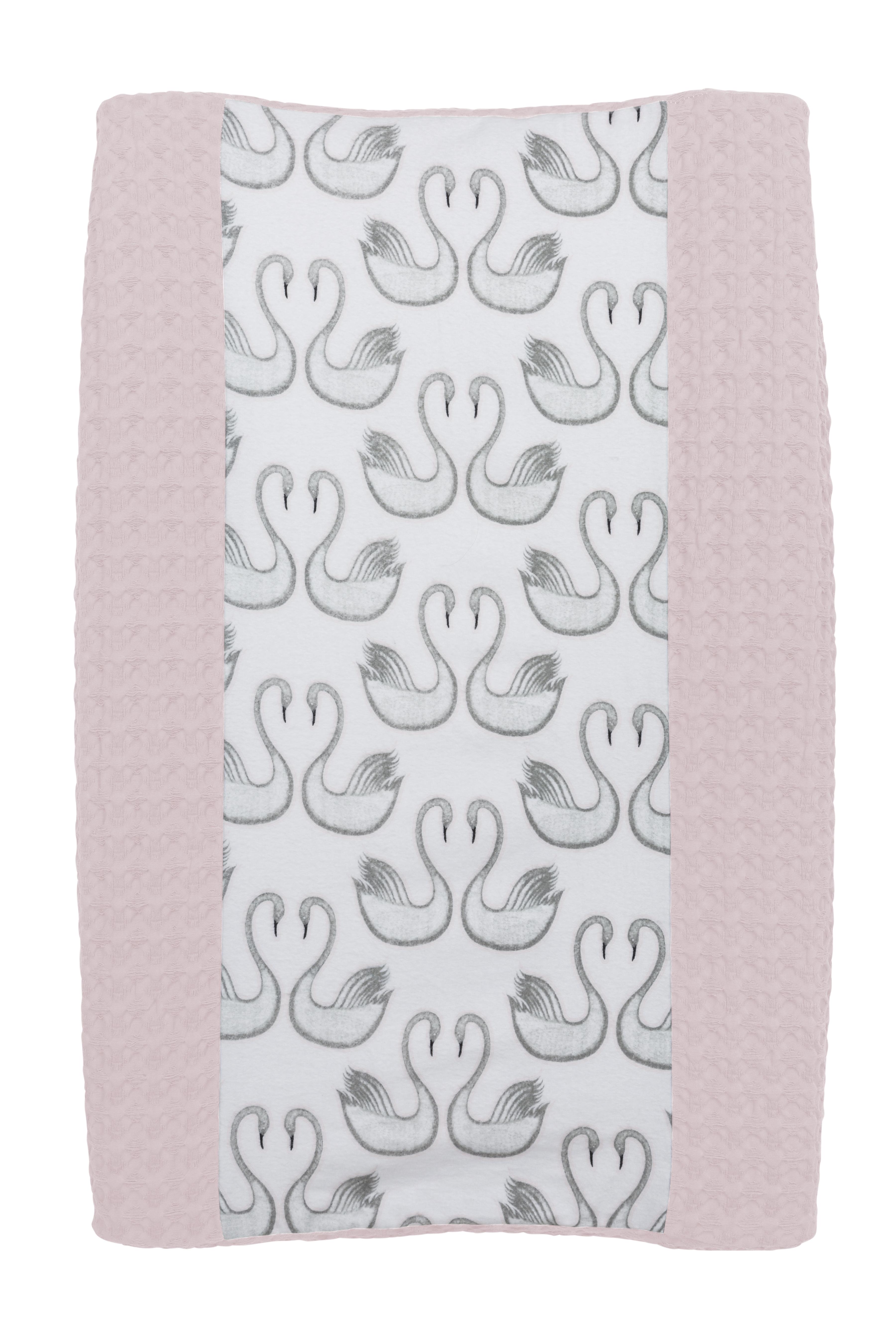 Aankleedkussenhoes Wafel/Flanel Swan - Lichtroze