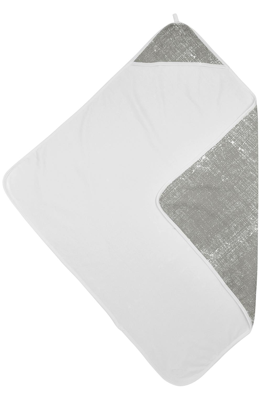 Badcape Fine Lines - Lichtgrijs - 90x90cm