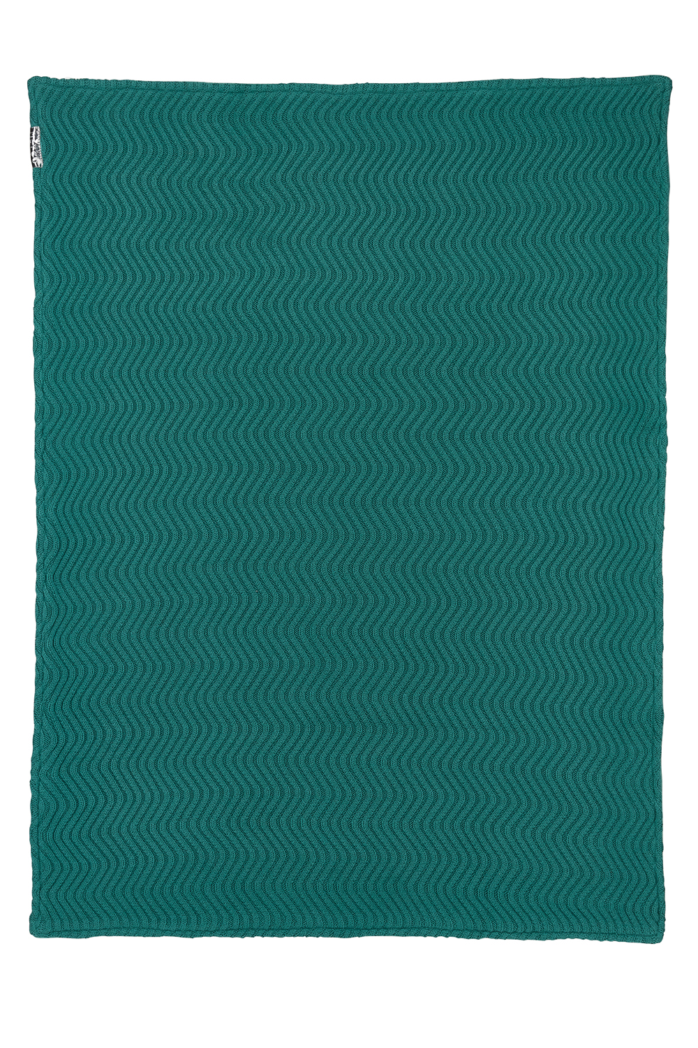 Wiegdeken Velvet The Waves - Emerald Green - 75x100cm